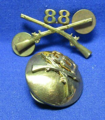 WWII 88th Infantry Officer Insignia & 351st Infantry Enlisted Collar Disc
