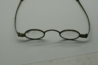 Early 1800's Brass Eyeglasses Antique Colonial Signed BENZ