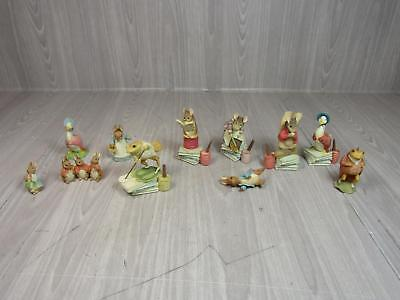 10 Piece Lot Of Beatrix Potter Character Figurines