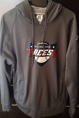 Melbourne Aces Russell Athletic Grey Hoodie - Very Good Condition - Size Small