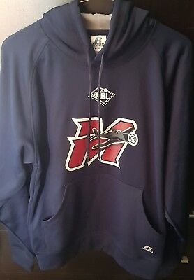 Melbourne Aces Abl Russell Athletic Navy Blue Hoodie Very Good Condition