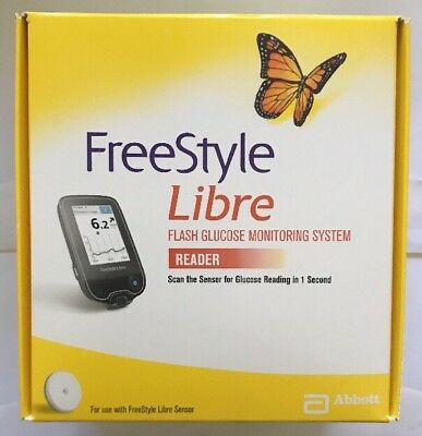 FreeStyle Libre Reader - Sealed - Brand New In Box - Reader Only No Sensors