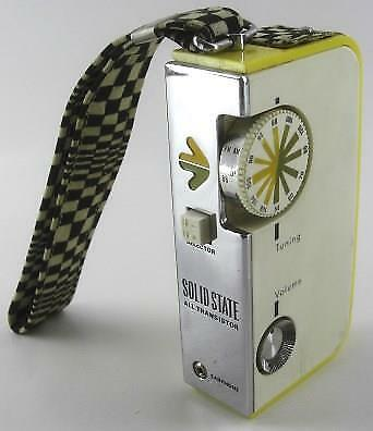 vintage 70's Lloyds psychedelic HIPSTER transistor AM RADIO