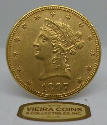 1897 Liberty Head Gold 10 Dollars - Hard to Find - #C11636