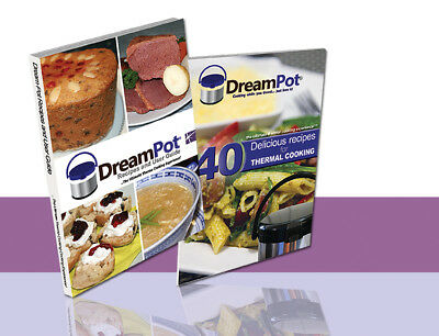 2x DreamPot Thermal Recipe Books - Camping,Caravan, Kitchen, Travel, Slow Cooker