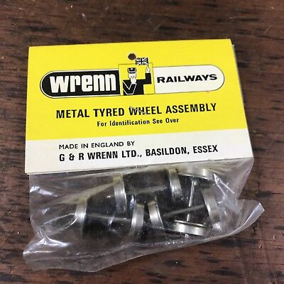 Vintage Nos Wrenn Oo Model Railways W7301 Metal Disc Wheels Pin Point Axles