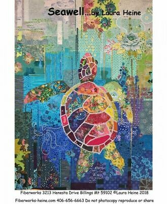 Laura Heine Collage Pattern -Seawell Sea Turtle