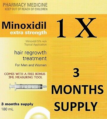 => Minoxidil 5%  Solution 3 Months Supply Men Women Same As Regaine Hair Revive