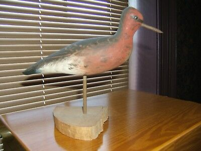 Vintage SHORE BIRD Will Kirkpatrick WEK hand carved & painted bird FREE SHIPPING