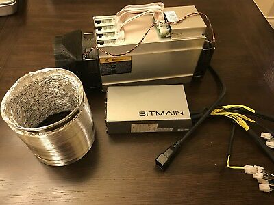 """bitmain antminer l3 with power supply, Shroud Duct, 6"""" Duct And Power Cord"""
