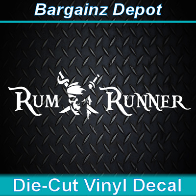 RUM WITH THE WIND . Pirate Ship Boat Car Laptop Sticker Decal Vinyl Decal.