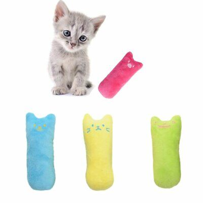 Cat Puppy Kitty Teeth Pillow Interactive Scratch Kicker Catnip Toy Grinding EU