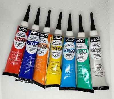 PEBEO Vitrea 160 Transparent Outliner 20mL Glass/Metal Paint *Assorted Colours*