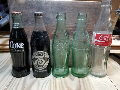 Coca-Cola Glass Bottle Lot!  Early Vintage Glass Bottles!  Green Glass - Soda...