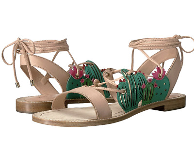 6a62951ac6bb Kate Spade New York Salina Lace Up Sandals Womens Cactus Gladiator Leather  Nwob
