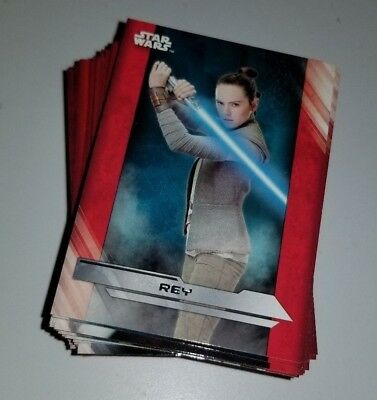 2017 Star Wars The Last Jedi Trading Complete Card Set 100 base cards Topps