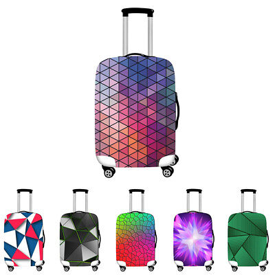 FX- Geometric Travel Luggage Suitcase Dustproof Zipper Cover Protector Case Eyef
