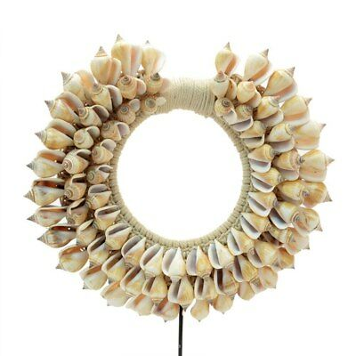 Bohemian Tribal Cone Seashell Necklace on stand Home Decor