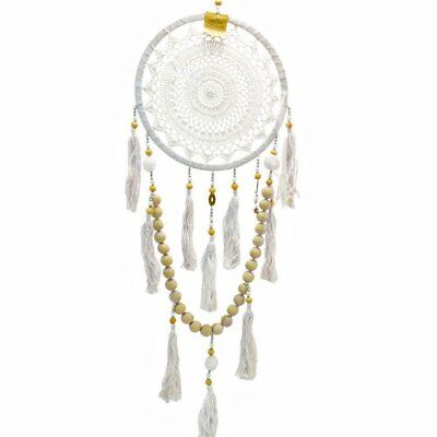 Crochet Dream Catcher with Tassles,Balls & Bell