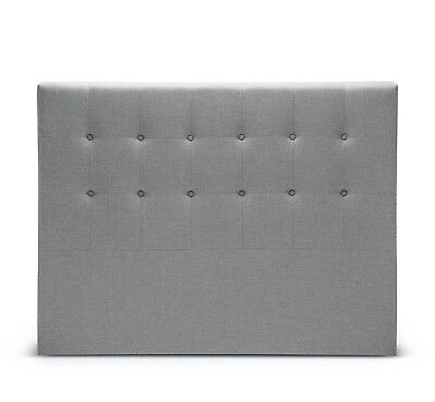Queen Size Bed Head Headboard Grey with Wood & Fabric *Scratch & Dent Clearance*