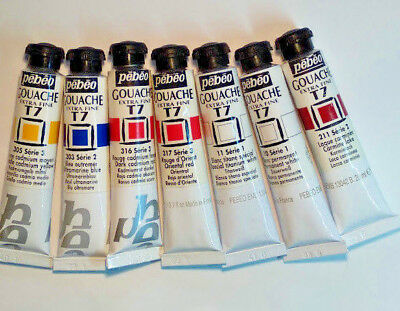 PEBEO Extra Fine T7 Gouache Paint 20mL *Assorted Colours*