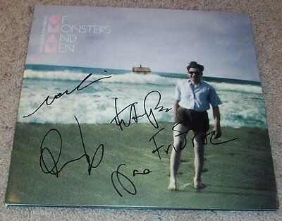 OF MONSTERS AND MEN SIGNED AUTOGRAPH MY HEAD IS AN ANIMAL ALBUM w/EXACT PROOF