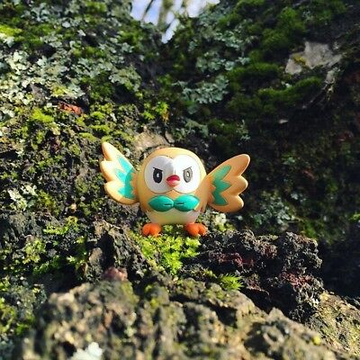 One New Opened Pokemon Rowlet Takaratomy Figure