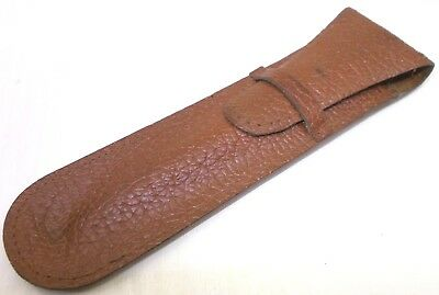 Vintage genuine leather case antique for fountain ballpoint pen Hungary 1960's