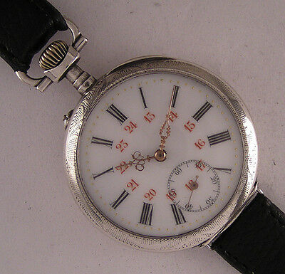 Early ALL ORIGINAL Serviced Cylindre'1900 French Gent's Wrist Watch Perfect