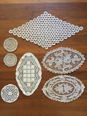 Mixed Lot Of Vintage Lace Crochet Doilies CRAFT Decorating