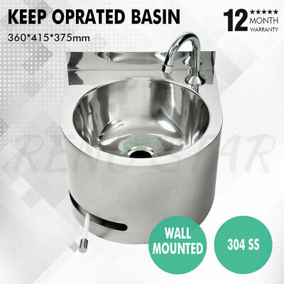 360*415*375mm Hand Basin Free Knee Operated Round Stainless Steel