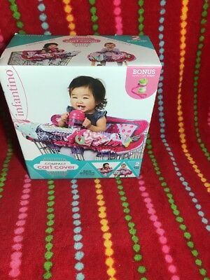 Infantino Compact Cart Cover Pink Adjustable Safety Harness Keeps Baby Safe