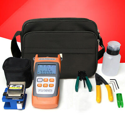 Visible Fiber Optic Fault Locator Power Meter Tester Cleaver FTTH Tool Kit MWT