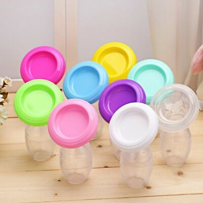 Silicone Manual Breast Pump Feeding Leak Proof Breast Milk Suction Collector NEW