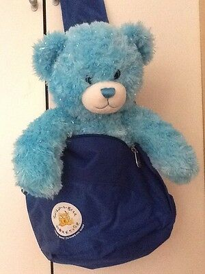 Build A Bear Blue Sling Backpack and Pencil Case. Brand New