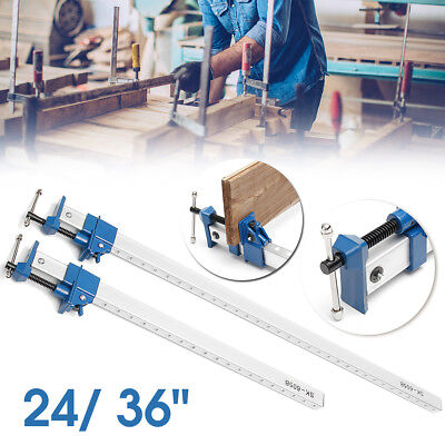 24''/ 36'' Heavy Duty F-Clamp Bar Clamp Woodworking Quick Slide Wood Clamping