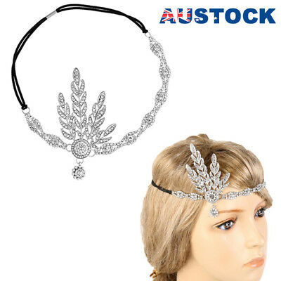 1920s 20s Great Gatsby Headband Vintage Bridal Headpiece Costume Accessory AU