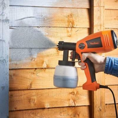 Electric Paint Spray Gun Sprayer Painting Fences Walls Indoor Decorating Ceiling
