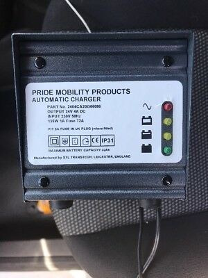Genuine Pride Mobility Charger 24 Volt 4 Amp 24V 4A Scooter Powerchair