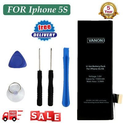 OEM 1560mAh Internal Replacement Li-ion OEM Battery Tools For Apple iPhone 5S 5C