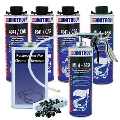 Dinitrol New Vehicle Rust Proofing Litres Kit For Small Car