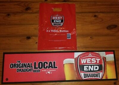 Official West End Draught Beer Mat Bar Mat with bag