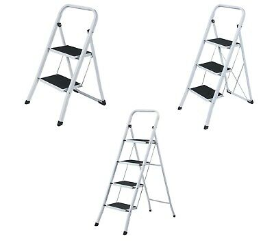 2, 3, 4 Steps Heavy Duty Steel Ladder Foldable Non Slip Tread Safety Steel Step