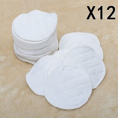 12Pcs Baby Feeding Breast Pads Reusable Washable COTTON Nursing Breastfeeding UK