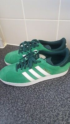 Mens Adidas Gazelle Green Suede Lace Up Trainers Uk 7.5