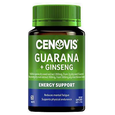 Cenovis Guarana 2000 & Ginseng 500 mg 60 Tablets