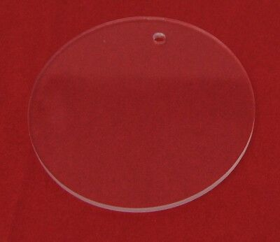 """3"""" Diameter Clear Laser Cut Acrylic Circles with hole for keychain 1/8"""" thick"""