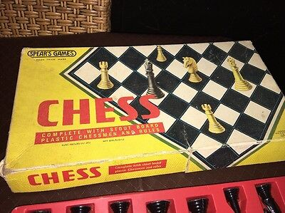 Vintage 1974 Board Game - Chess  - 100% Complete Spears Games