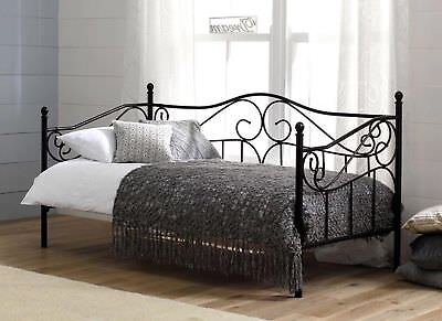 DREAMS Amy Day Bed 3ft Single  Black Vintage French Versailles Antique Victorian