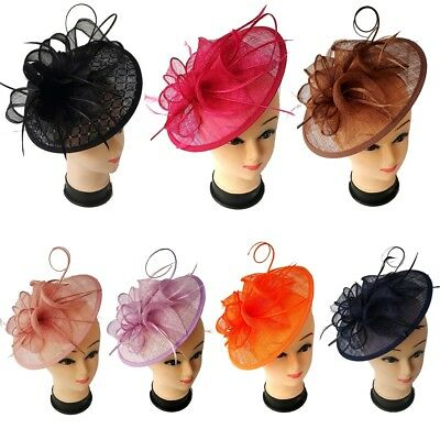 Ladies Headband Clip Hat Fascinator Weddings Special Day Race Royal Ascot Large